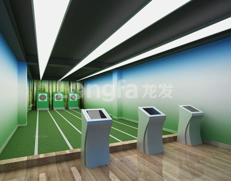 龙发装饰丨2400平健身中心装修设计效果图