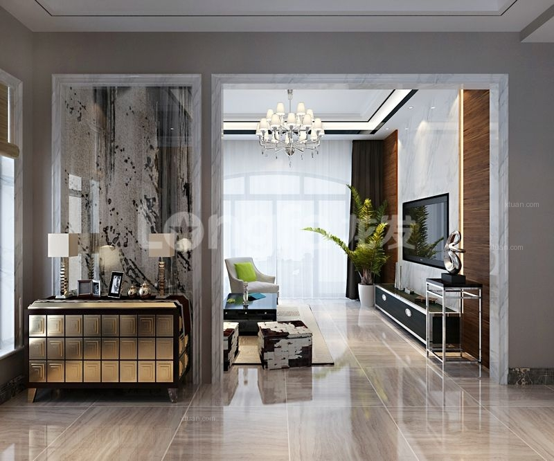 龙发装饰丨碧桂园240平别墅现代风格装修设计效果图