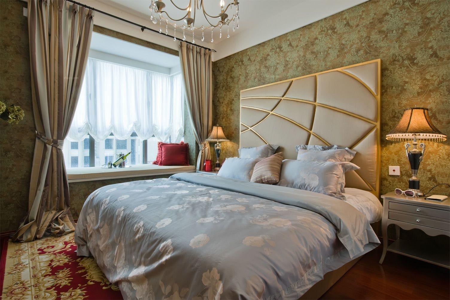 别墅法式风格卧室图片