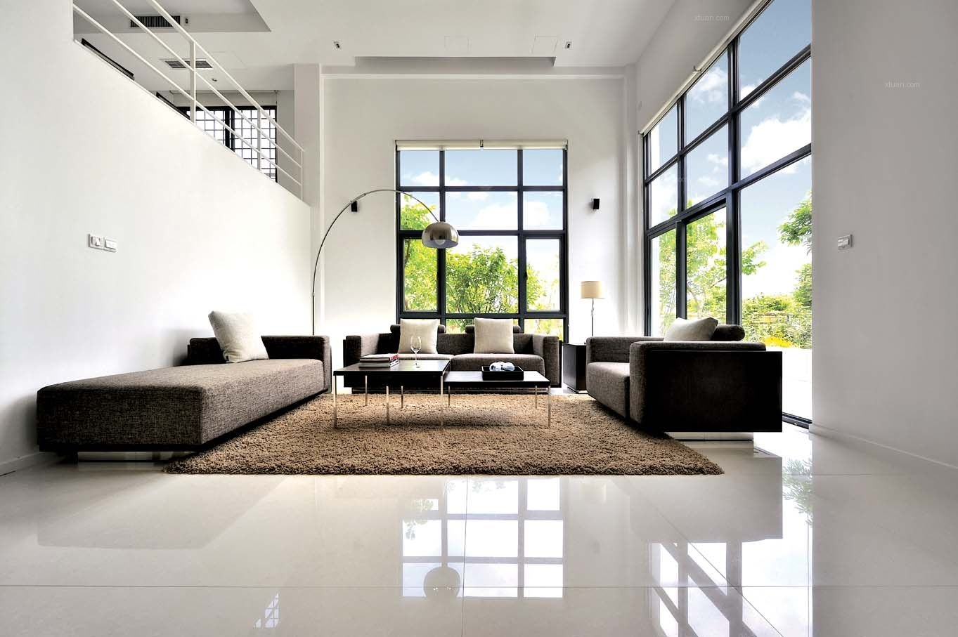 别墅现代简约客厅