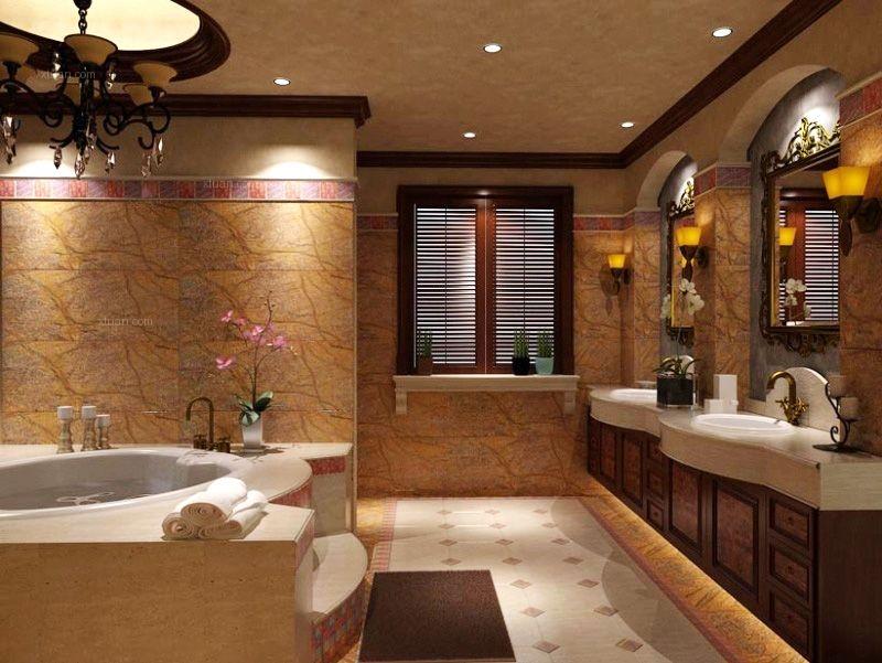 三居室美式风格卫生间