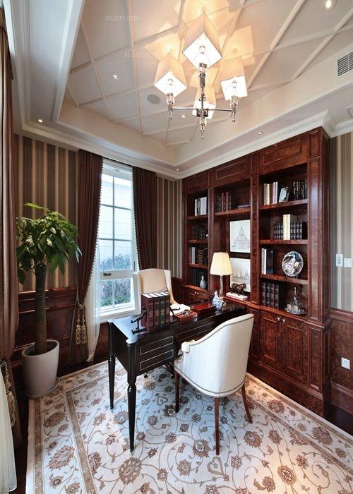 独栋别墅法式风格书房图片
