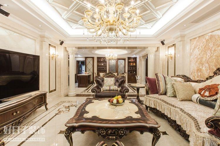 四居室法式风格客厅图片