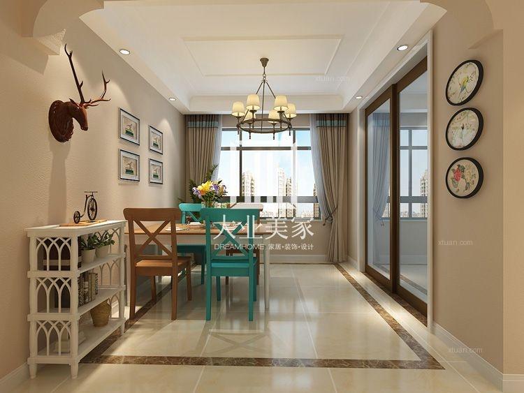 三居室美式风格餐厅