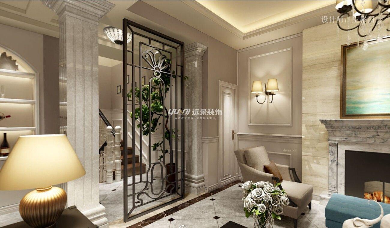 别墅欧式风格客厅软装图片