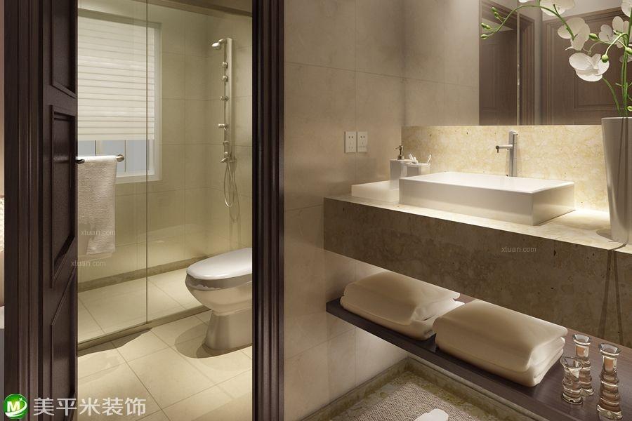 一室一厅现代简约卫生间