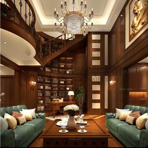 独栋别墅欧式风格书房