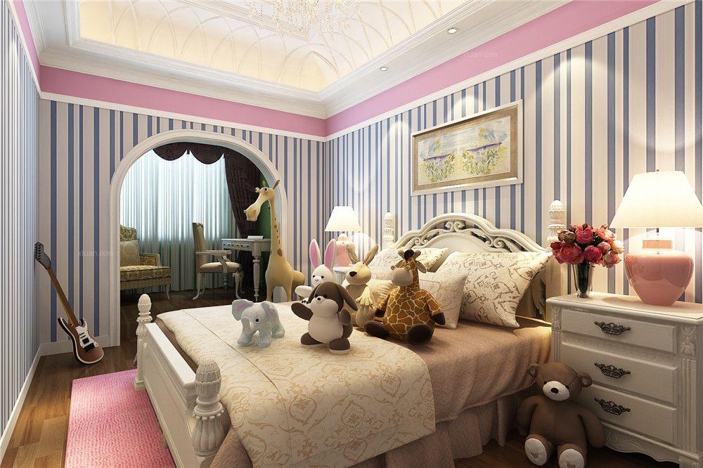 三居室欧式风格儿童房图片
