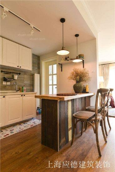 两室一厅混搭风格厨房开放式厨房
