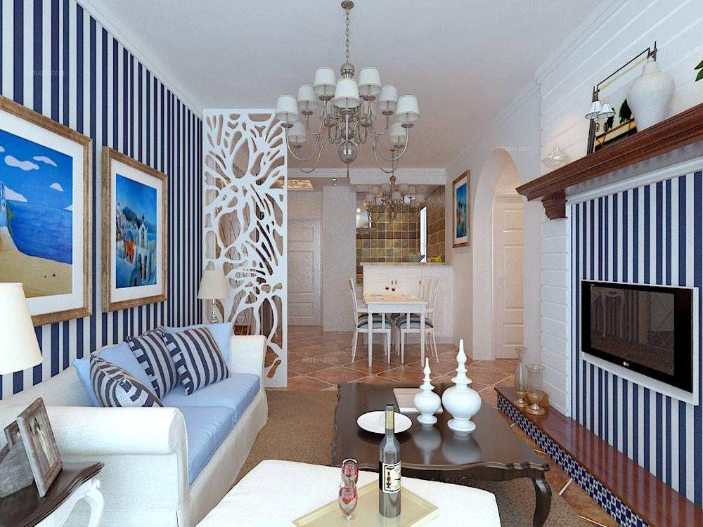 三室两厅地中海风格客厅