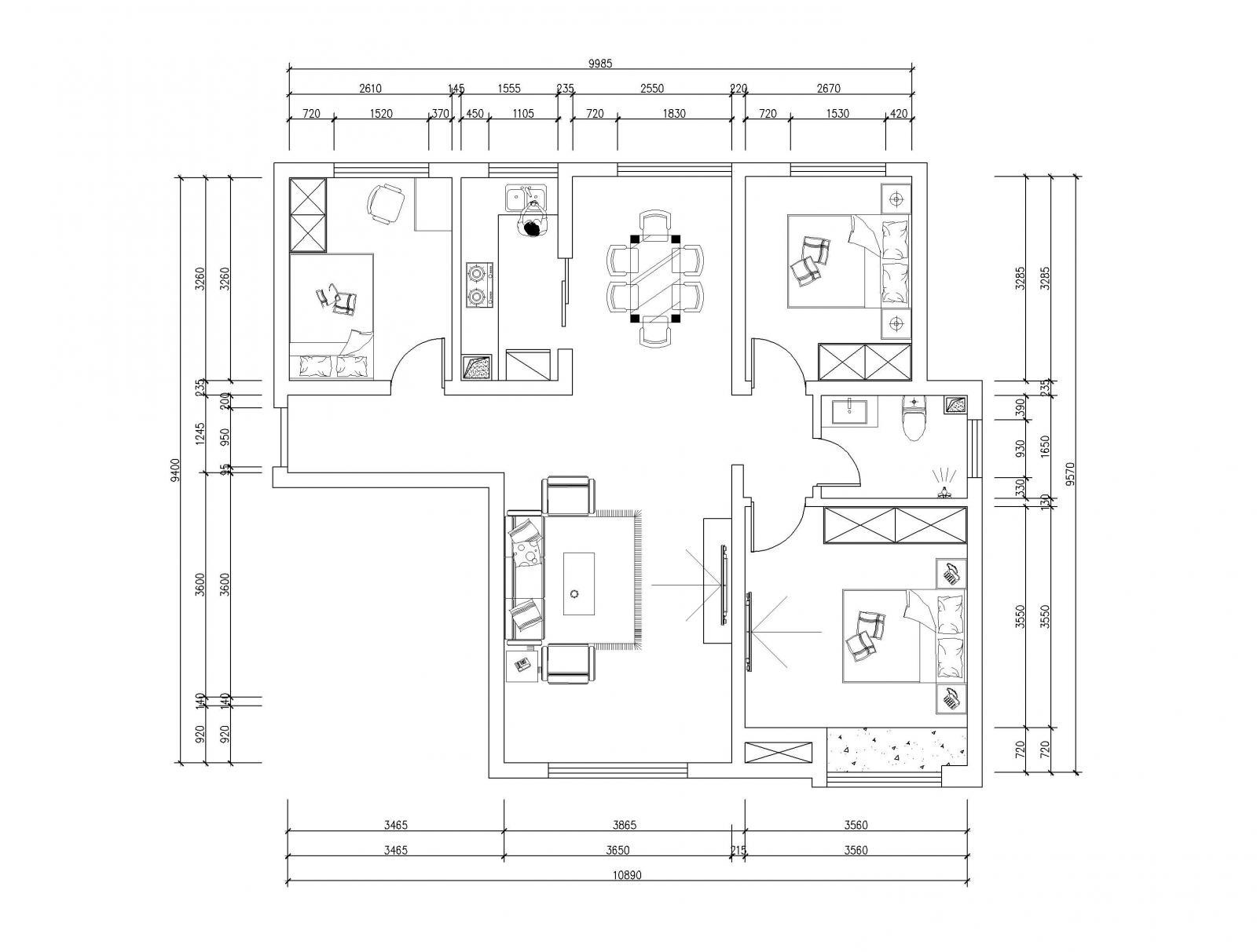 三室两厅简约风格卧室榻榻米