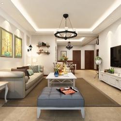 中海城104㎡三居室美式风格