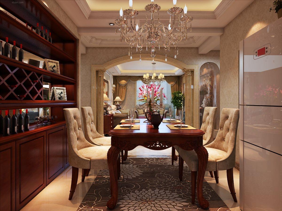 三室两厅欧式风格餐厅图片
