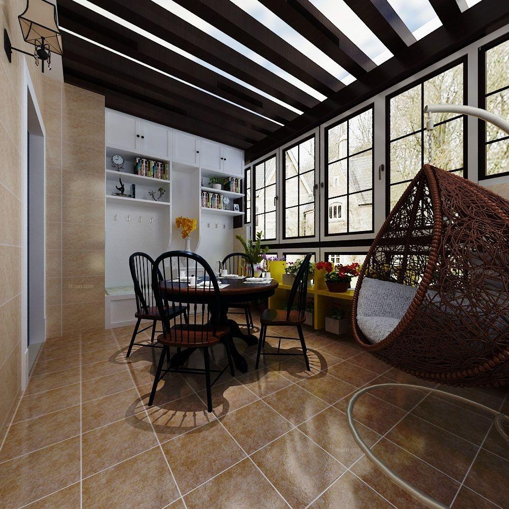 三室两厅美式风格卧室榻榻米