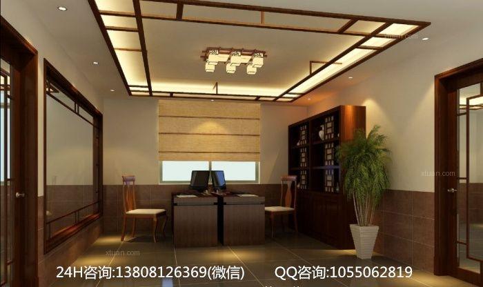 中式风格医院_成都中医馆设计-福元堂中医养生馆装修