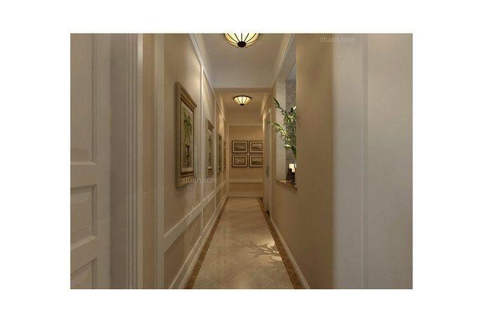 三居室美式风格过道