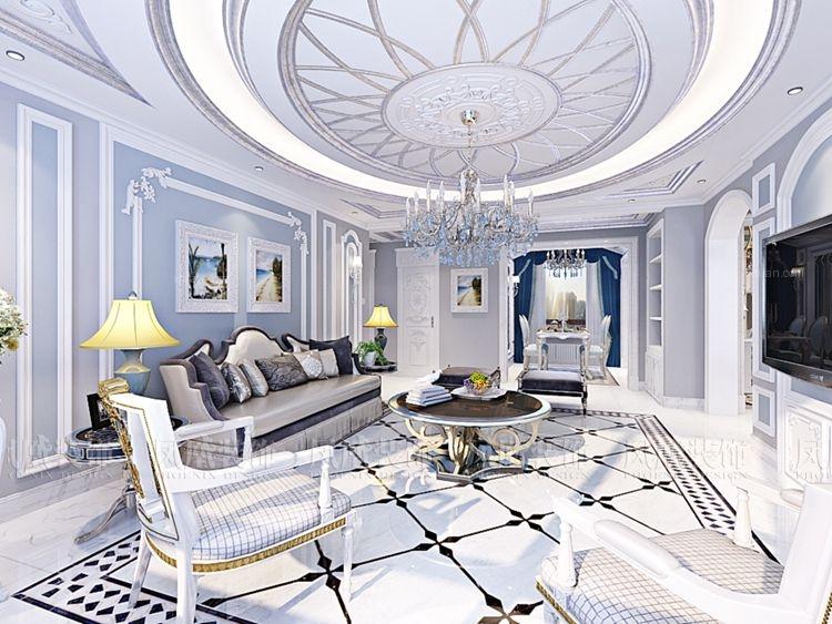 三居室法式风格客厅图片