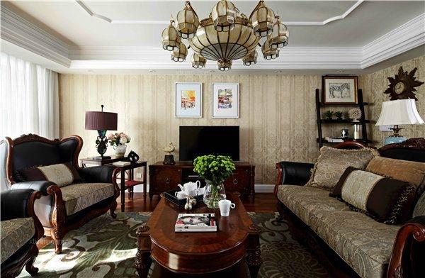 别墅美式风格客厅