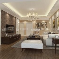 普陀新湖明珠城129平户型简欧风格设计