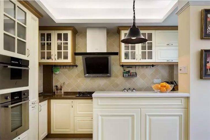 两居室美式风格厨房_中渝香奈公馆简美清新 两居装修