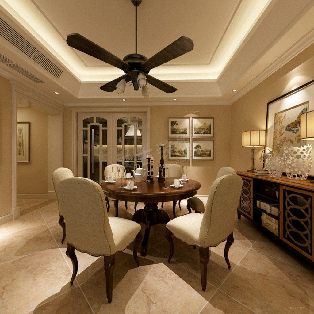 四居室美式风格餐厅图片