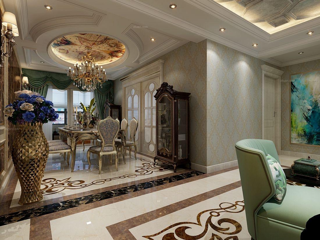 【新合国际】182平米四室两厅欧式风格装修效果图图片