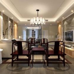 保利叶之林三房装修新中式设计