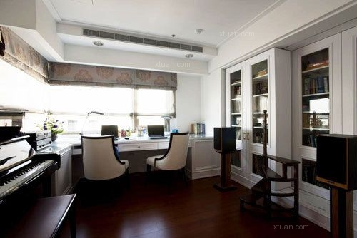 三居室美式风格书房
