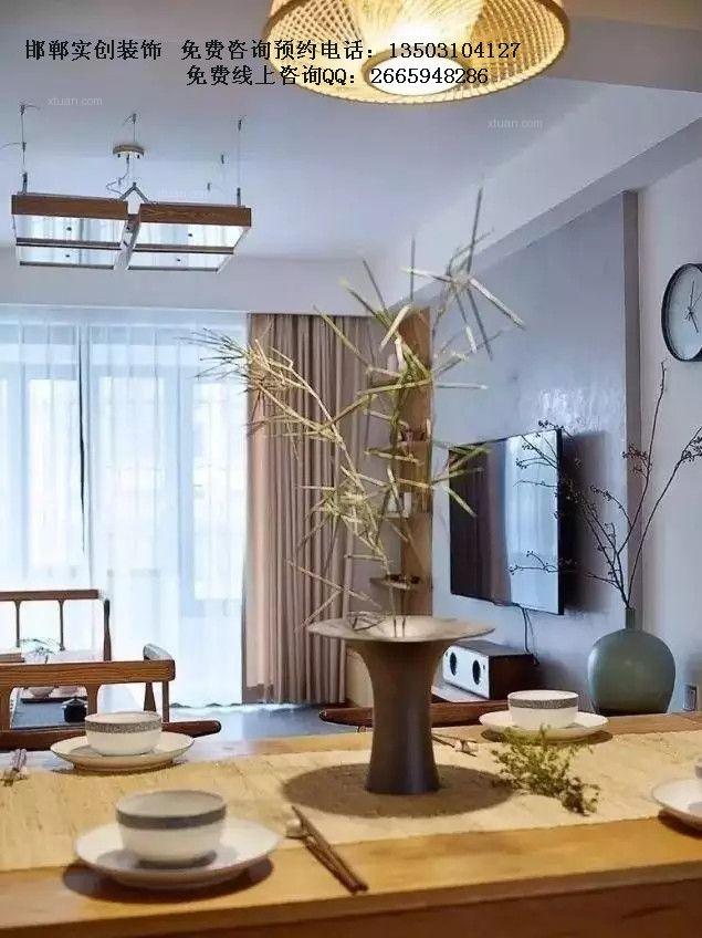 三居室中式风格餐厅电视背景墙