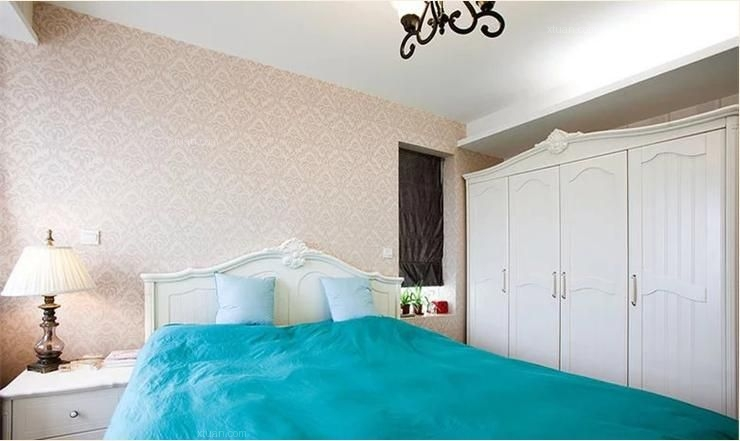 两居室混搭风格卧室卧室背景墙
