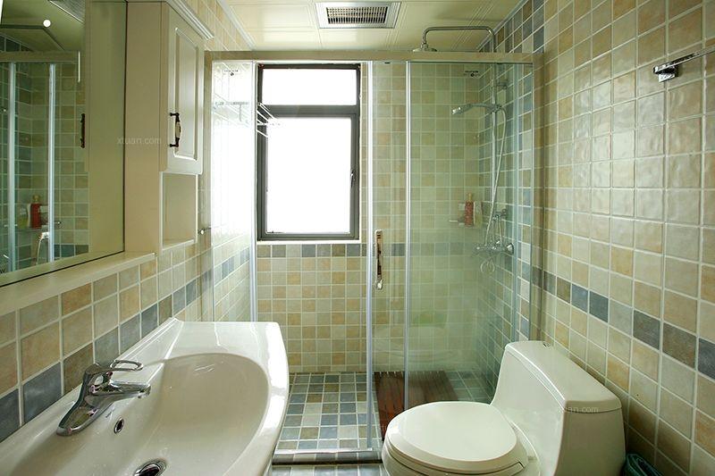 三室两厅美式风格卫生间地台