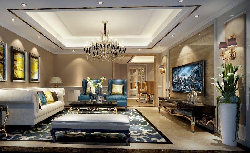 四居室欧式风格客厅