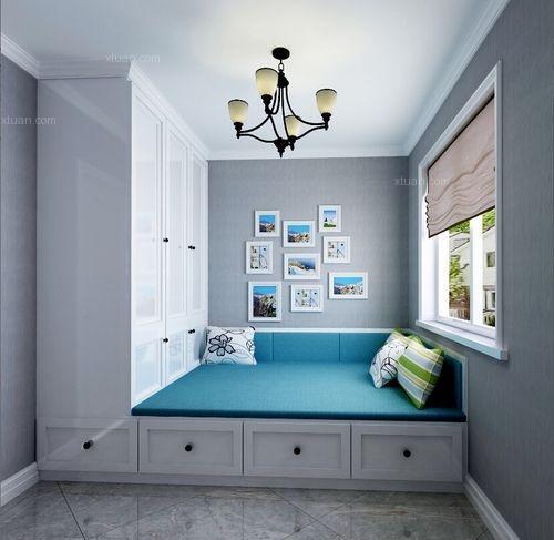 三居室美式风格卧室榻榻米