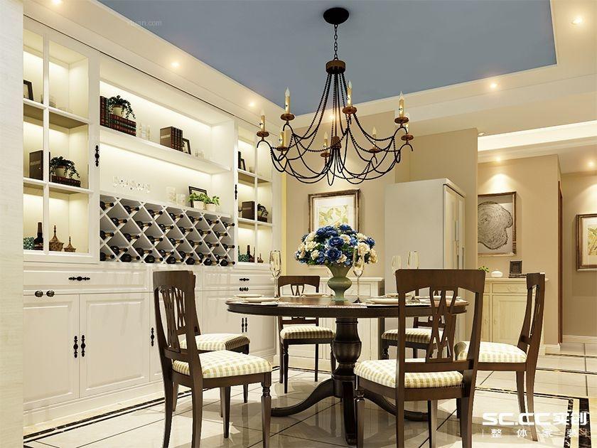 别墅美式风格餐厅软装