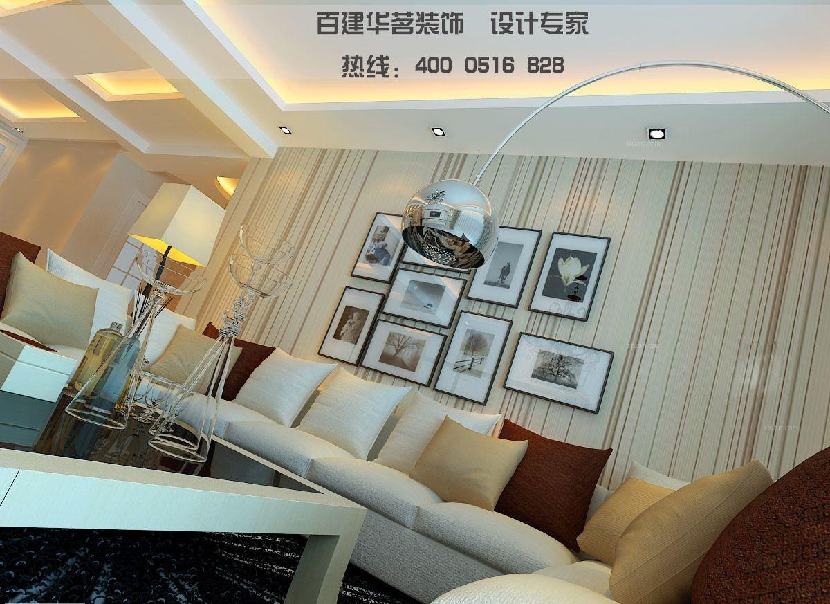 大户型时尚风格客厅照片墙