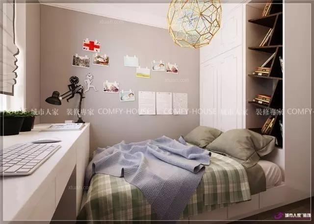 三室两厅美式风格卧室墙绘图片