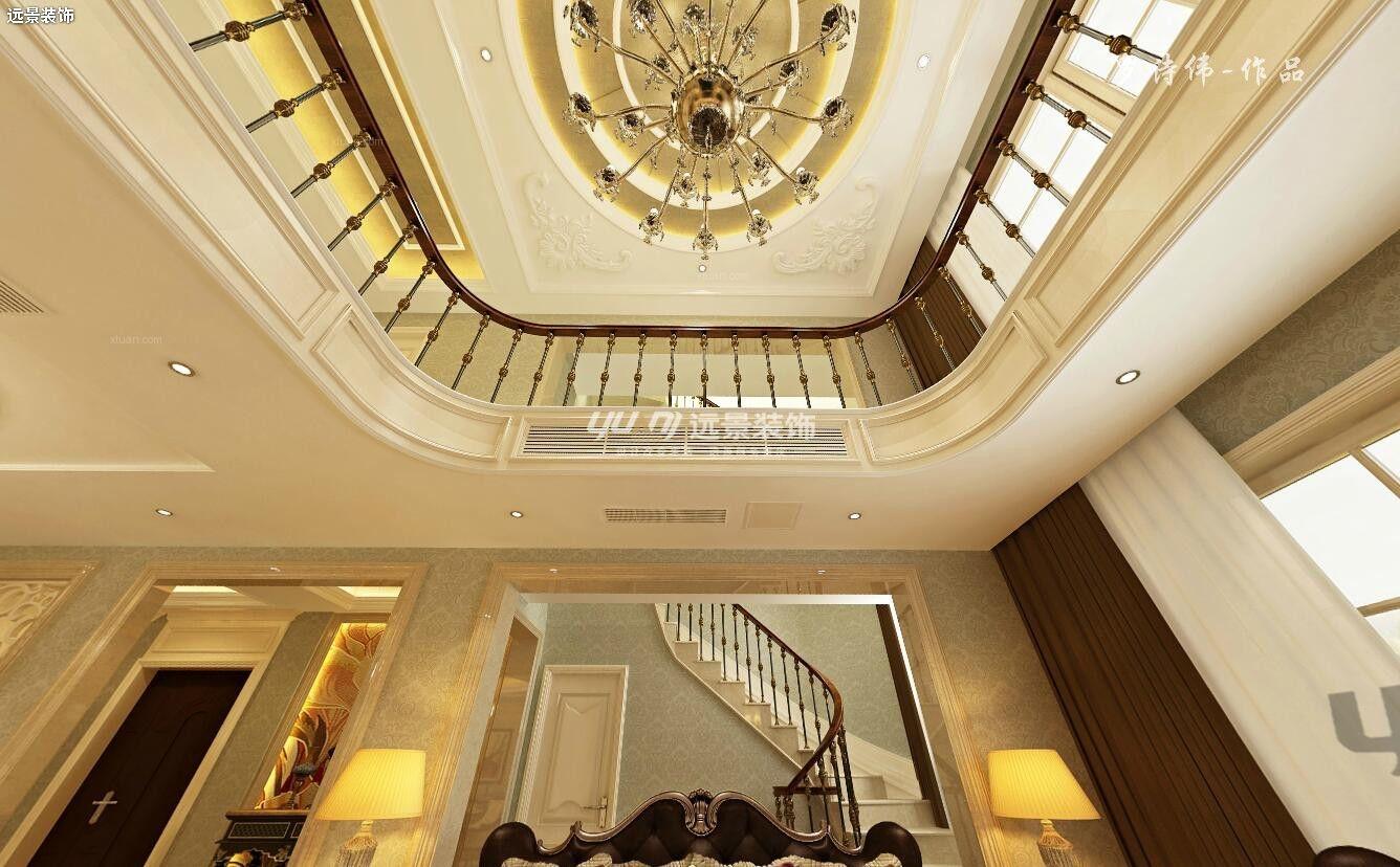跃层欧式风格客厅软装