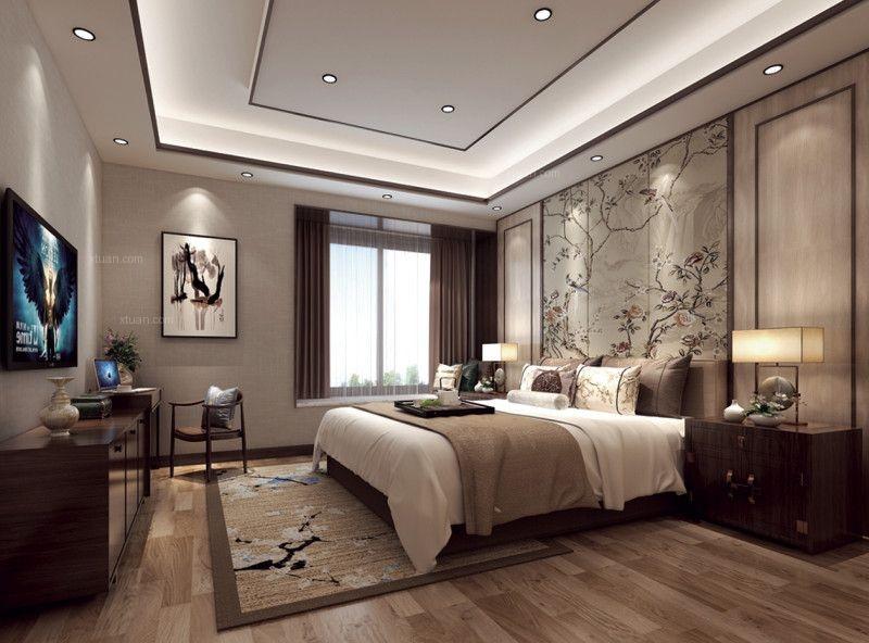 三居室现代简约卧室隐形门