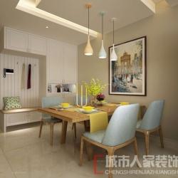 阳光美域95平米现代风格装修案例