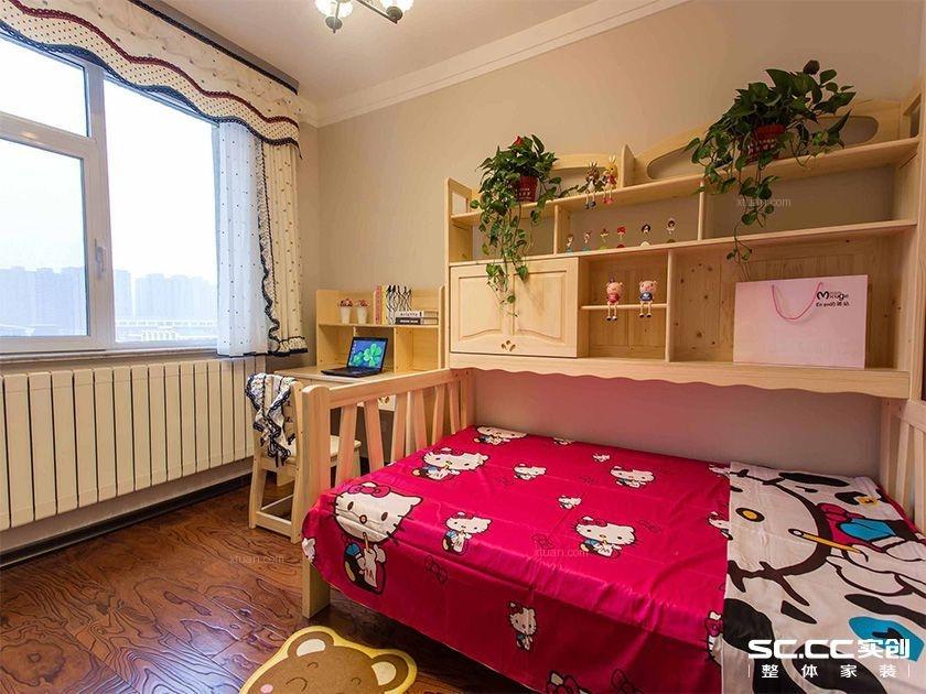 两居室现代简约主卧室电视背景墙