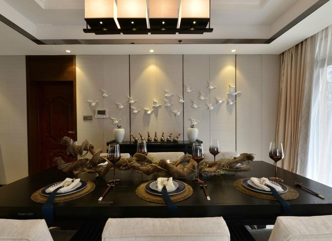鲁能七号院四居室458平米中式风格