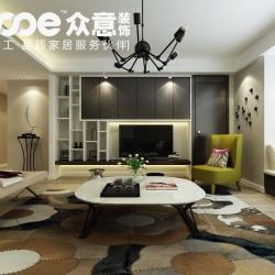 紫汀苑160平现代简约风格