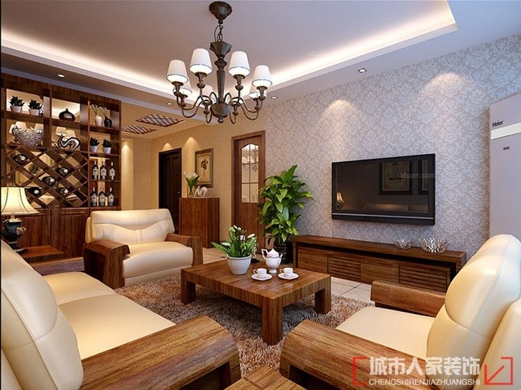 渭滨苑交房115平米装修新中式好看吗?