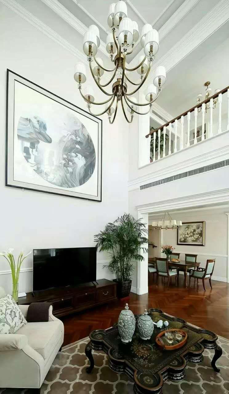 独栋别墅美式风格客厅
