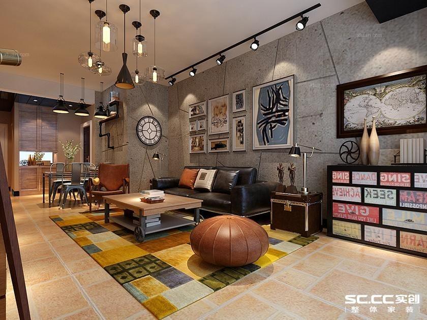 四居室混搭风格客厅软装