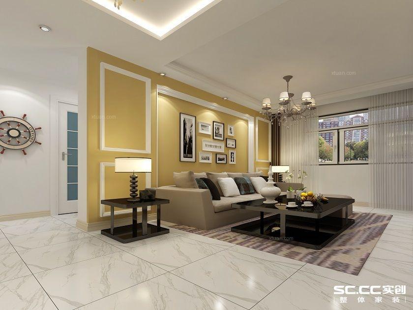 两居室现代简约客厅软装