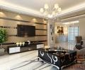 【实创装饰】银湖翡翠124平三居室现代风格全包