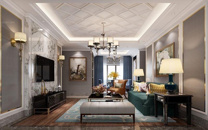 南湖国际新古典风格装修案例