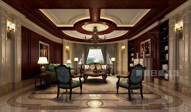 独栋别墅古典风格客厅软装