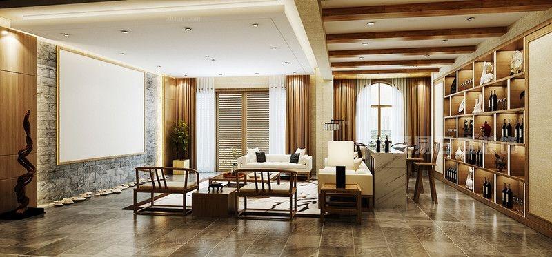 振业城520平新中式风格联排别墅